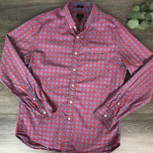 J. Crew slim flex washed button up plaid shirt